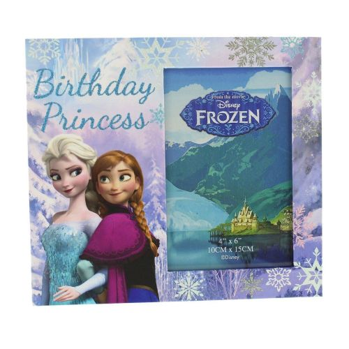 Disney Frozen Photo Frame 'Birthday Princess' Anna & Elsa Gift